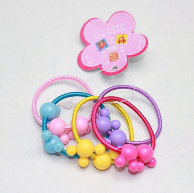 50pcs/lot Wholesale Baby Headband children mini rubber band girls candy hair rope string tie Bands hair accessory(China (Mainland))