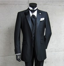 Groomsman Costume (Jacket+Pants+Vest+Tie)
