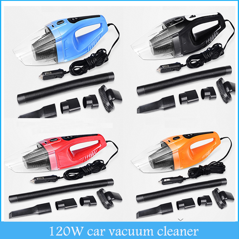 Car Vacuum Cleaner Wet and Dry Dual-use Super Suction 5meters 12v 120W Tile Car Vacuum Cleaner aspirateur(China (Mainland))