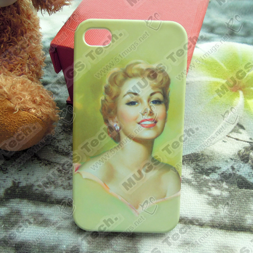 100pcs/lot sublimation blank 3D phone cases for I4/I4s(China (Mainland))