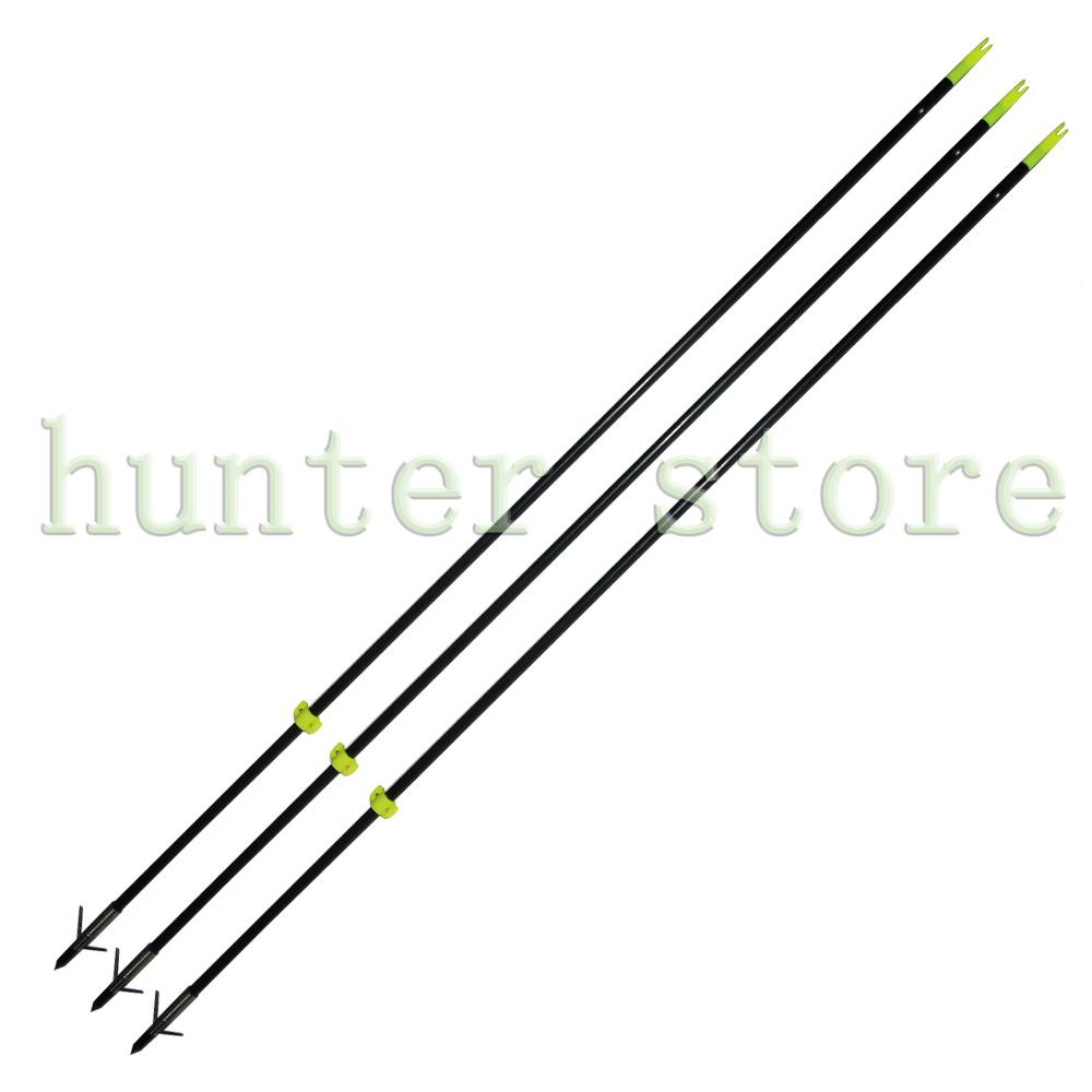 12pcs 34 Diameter 8mm Black Fiberglass Shaft Arrows Long Bow Fishing Shooting Arrows for Compound / Recurve Bow fishing<br><br>Aliexpress