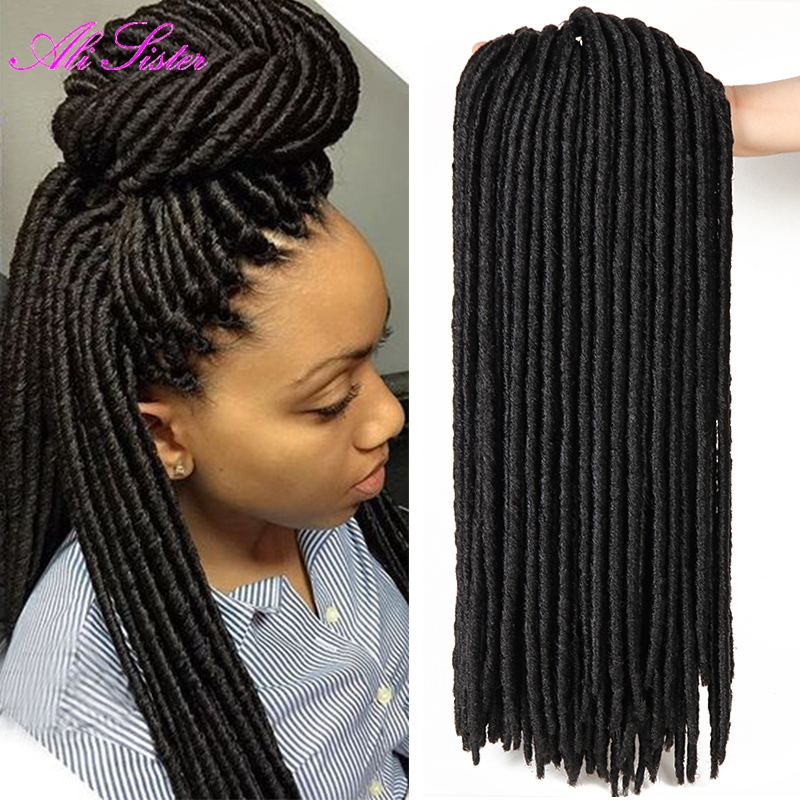 Crochet New Dreads : 100g/pack faux locs crochet black dreadlocks hair Synthetic Crochet ...