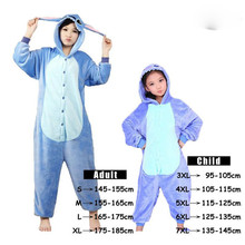 Unicorn Stitch Panda Unisex Flannel Pajamas Costume Cosplay Animal Onesies For Men Women Adults Child animal pajamas one piece(China (Mainland))