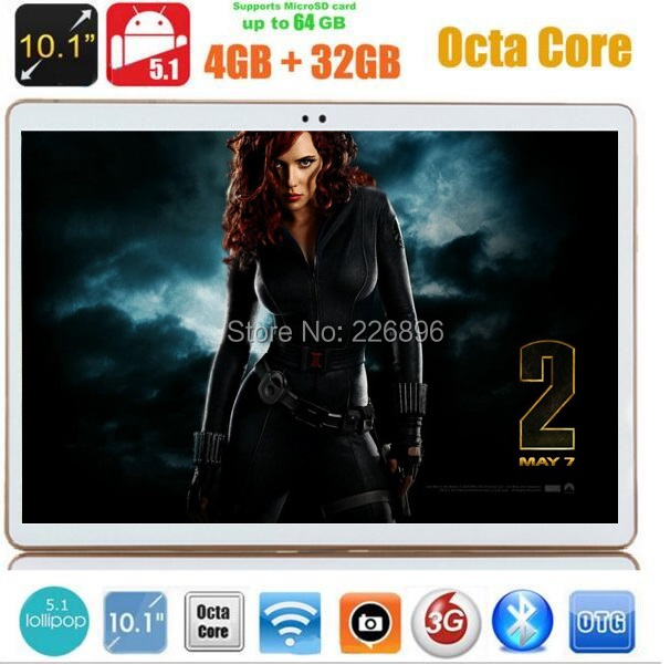 10 inch Tablet pc 3G WCDMA Octa Core 4GB RAM 32GB ROM Android 5.1 IPS GPS wifi 5.0MP 10.1 MID Phablet DHL Free(China (Mainland))