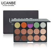 UCANBE Brand New 2015 Hot Sale Special Professional 15 COLOR Concealer Facial Care Camouflage Makeup Palette(China (Mainland))