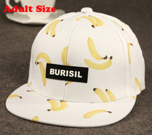 New Fruit pattern Adult & Kids Fashion Caps Children Boys Girls Baseball Caps Adjustable Hip Hop Snapback Sun Caps Summer Hat(China (Mainland))