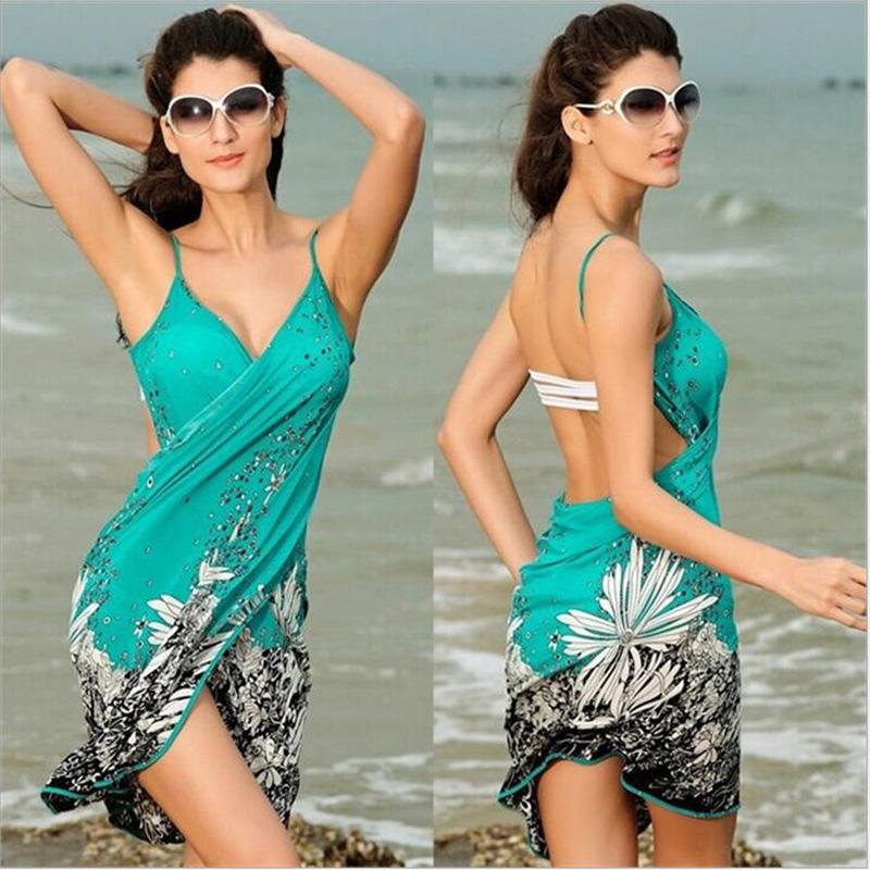 2016 New Beach Dress Summer Dress Wholesale Sexy Beach Cover Up summer sundresses Swim Dresses Fashion Women Dress(China (Mainland))