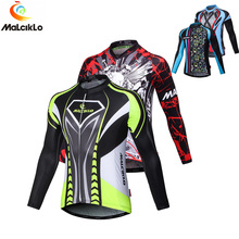 Buy Thin Fleece Spring/Autumn Winter 2017 New Men's Long Sleeve Cycling Jersey Bike Shirt Bicycle Clothing Sports Wear for $19.55 in AliExpress store