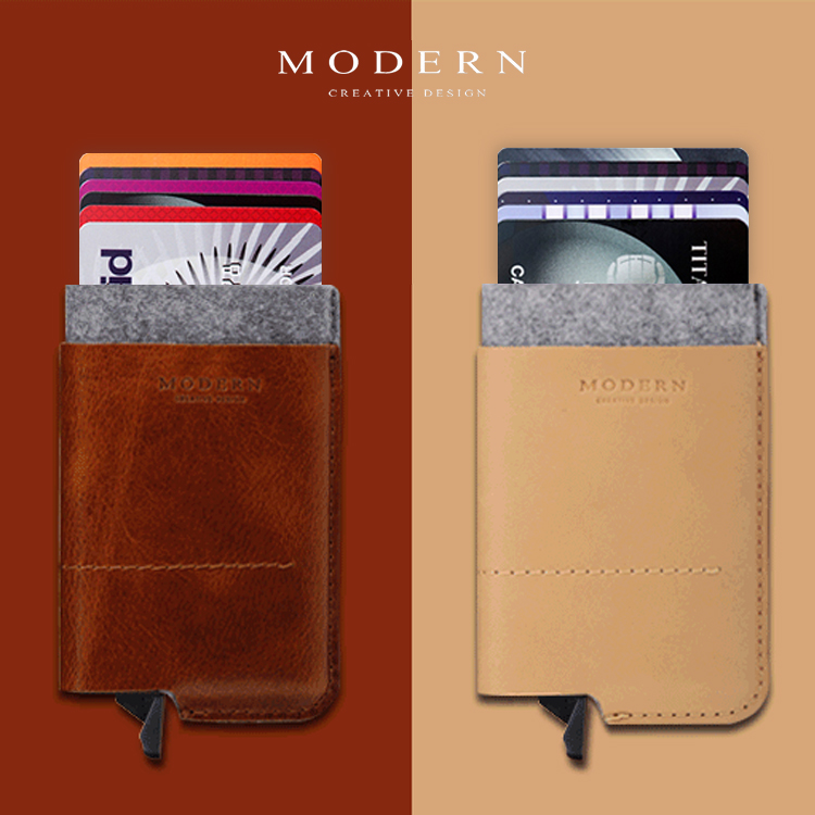 Modern - Luxury Brand New 100% Cow Genuine Leather Men <font><b>Wallets</b></font> Women <font><b>Smart</b></font> Card Holder Organizer Rfid Protector Famous Designer