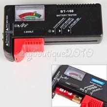 2015 recién llegado de AA / AAA / C / D / 9 V electrónica de consumo botón célula de la batería Volt Tester Checker nuevo