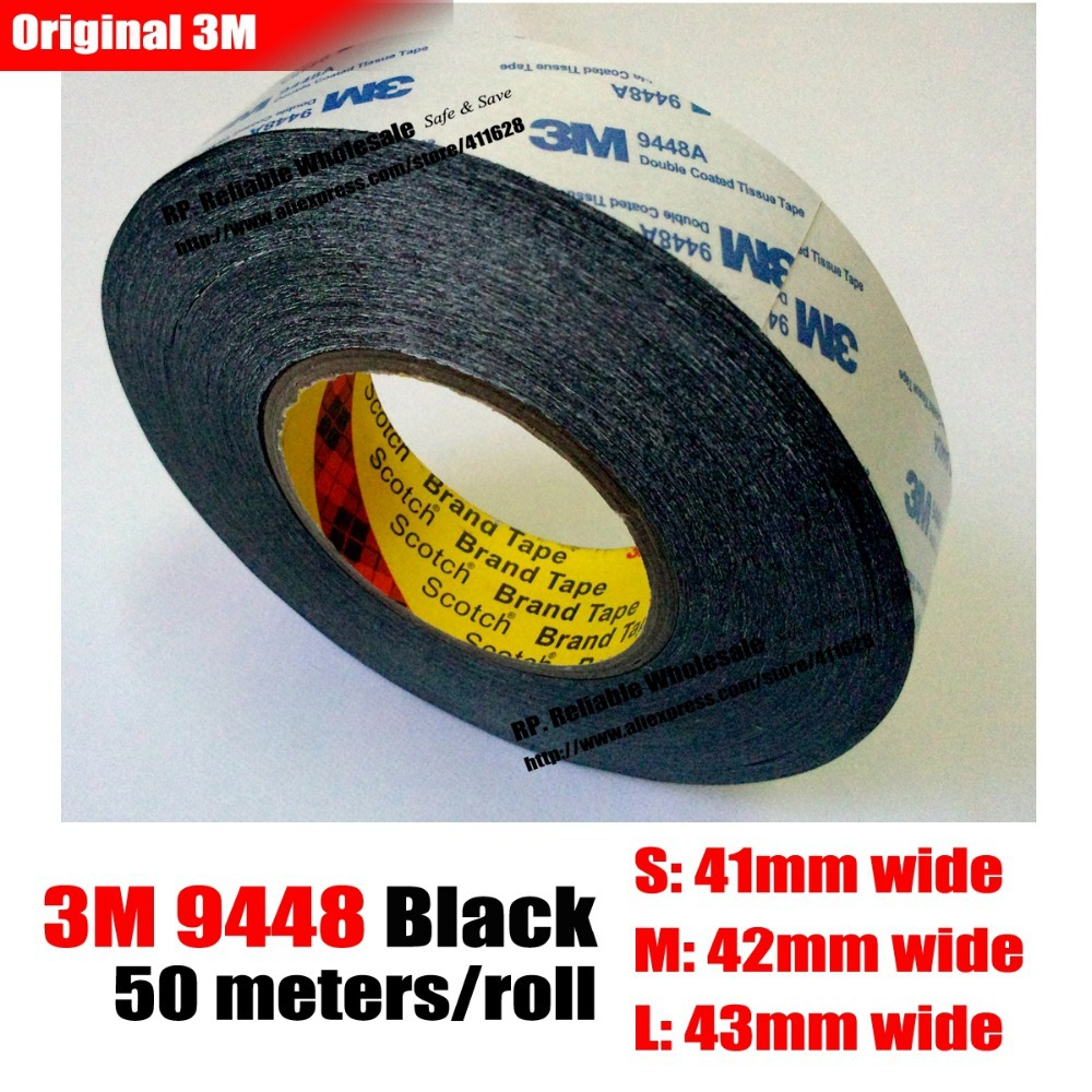 42mm * 50 meters 3M Two Sided Tape for LED LCD /Touch Screen /Display /Pannel /Housing /Case Adhesive Black<br><br>Aliexpress