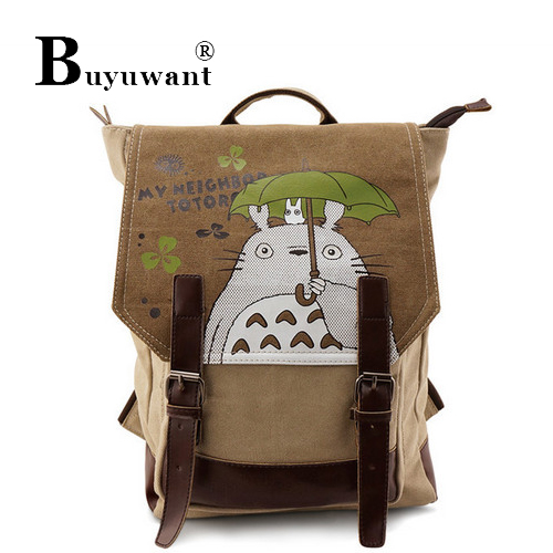 Anime bag totoro wash water canvas backpack new anime Backpack Series Anime Bag Series(China (Mainland))