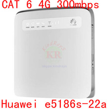 Desbloqueado Huawei e5186 E5186s-22a 4 g LTE wireless router 4 g wifi dongle Cat6 FDD TDD 300 Mbps Mobile hotspot cpe pk E5175 e5786