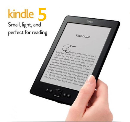 "kindle 5, 6"" e ink screen,wifi,2GB, electronic books,cheap ebook reader,ereader,ebooks Russian free shipping(China (Mainland))"