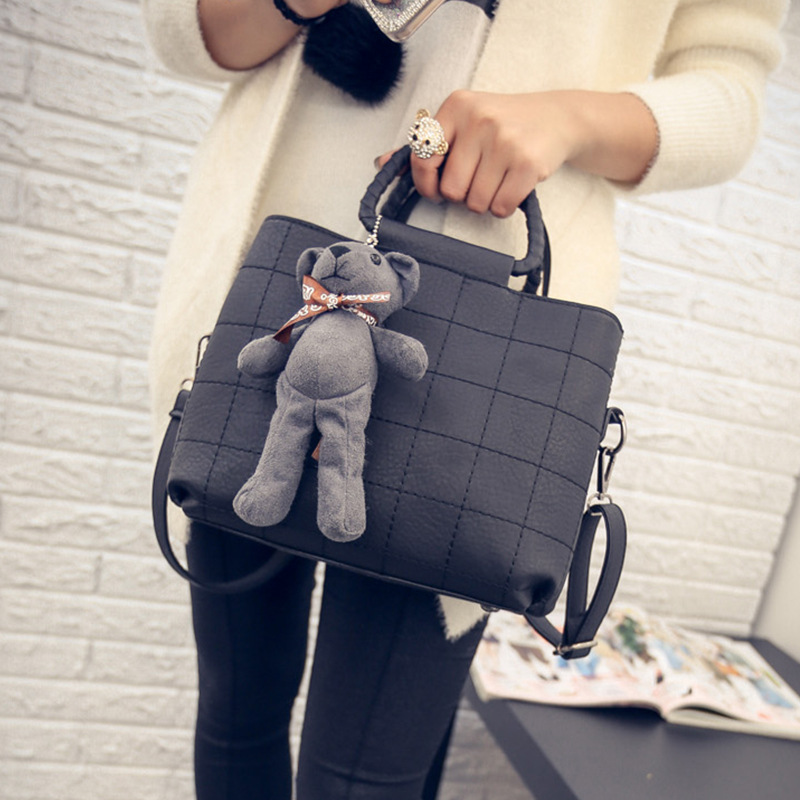 2016 new winter tide Lingge stitch handbag female British style shoulder bags lady luxury plaid pattern messenger bags to bear<br><br>Aliexpress