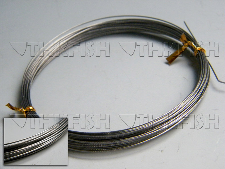 Diy tackle 10m 11yard 60lbs silver stainless steel wire for Steel fishing leader