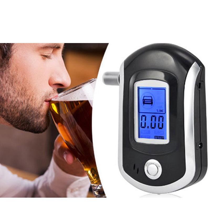 20pcs/lot Digital Breath Alcohol Analyzer Breathalyzer Tester With LCD Detector(China (Mainland))