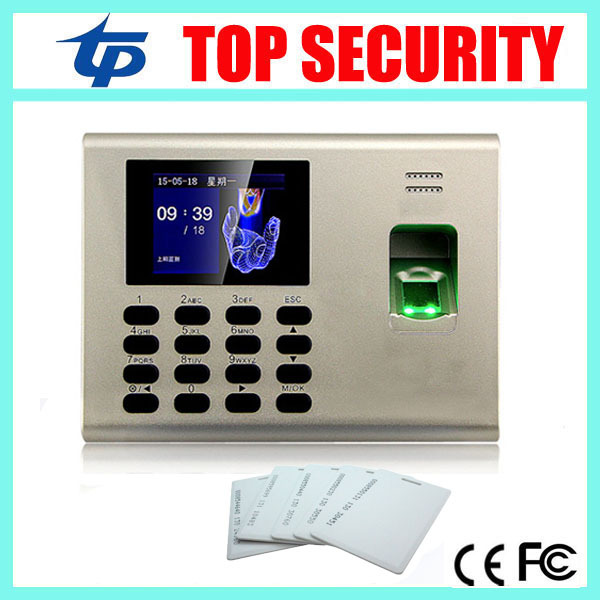 Free shipping linux system fingerprint time attendance and access control with RFID card built in battery export excel format(China (Mainland))
