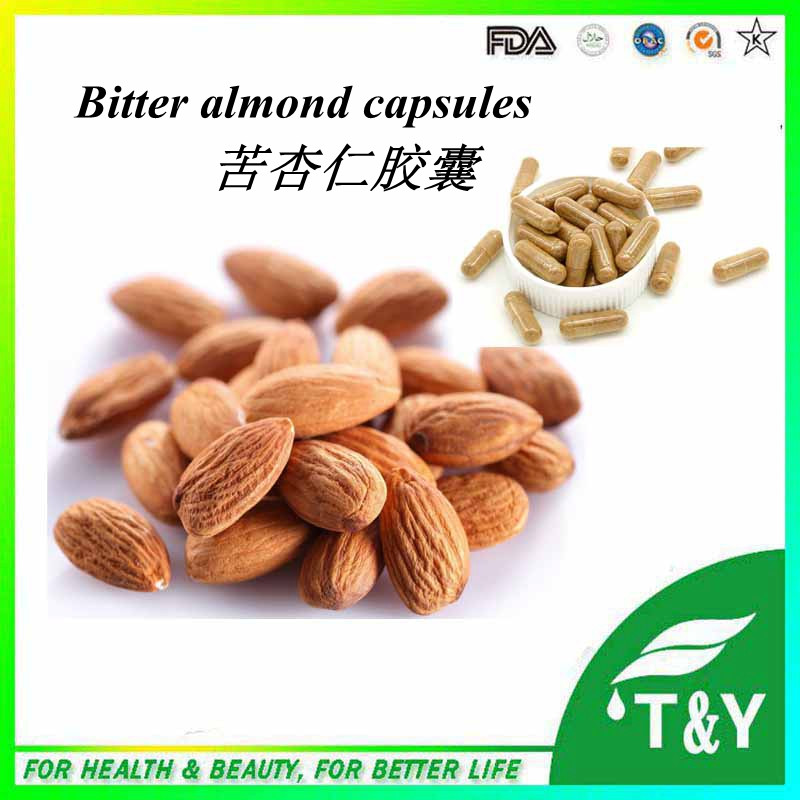 bitter almond extration amygdalin capsules with best quality 500mg*900pcs/lot(China (Mainland))