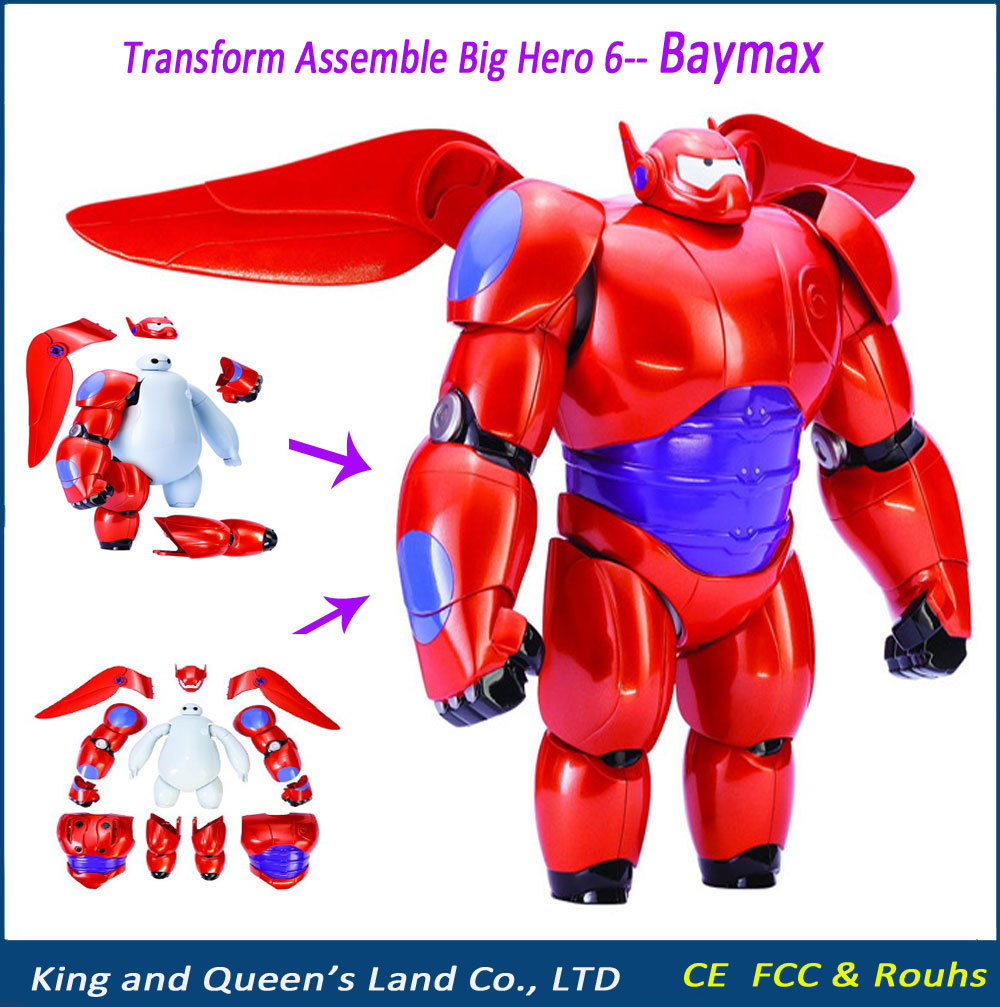 2015 New Transform Assemble Big Hero 6 Action Figure Toy Baymax Dolls Cartoon Model Toys Kids transformations Brinquedos Gifts(China (Mainland))