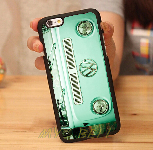 VW Mini Bus fasion brand black hard skin mobile phone cases cover housing for iphone 4s 5 5s 5c 6 6 plus cases free gifts(China (Mainland))
