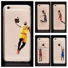 Buy iPhone 7,7 Plus Basketball Player Kobe Bryant Lebron James Michael Jordan Stephen Curry Soft TPU Silicone Case for $1.18 in AliExpress store