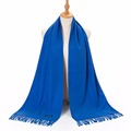 Women Solid Cashmere Scarf Shawl Luxury Men Winter Pashmina Scarves