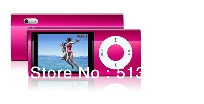 "Free shipping 2.2""LCD 8GB 5th Gen Camera FM Shake Touch button MP4 Player mp3 mp5(China (Mainland))"