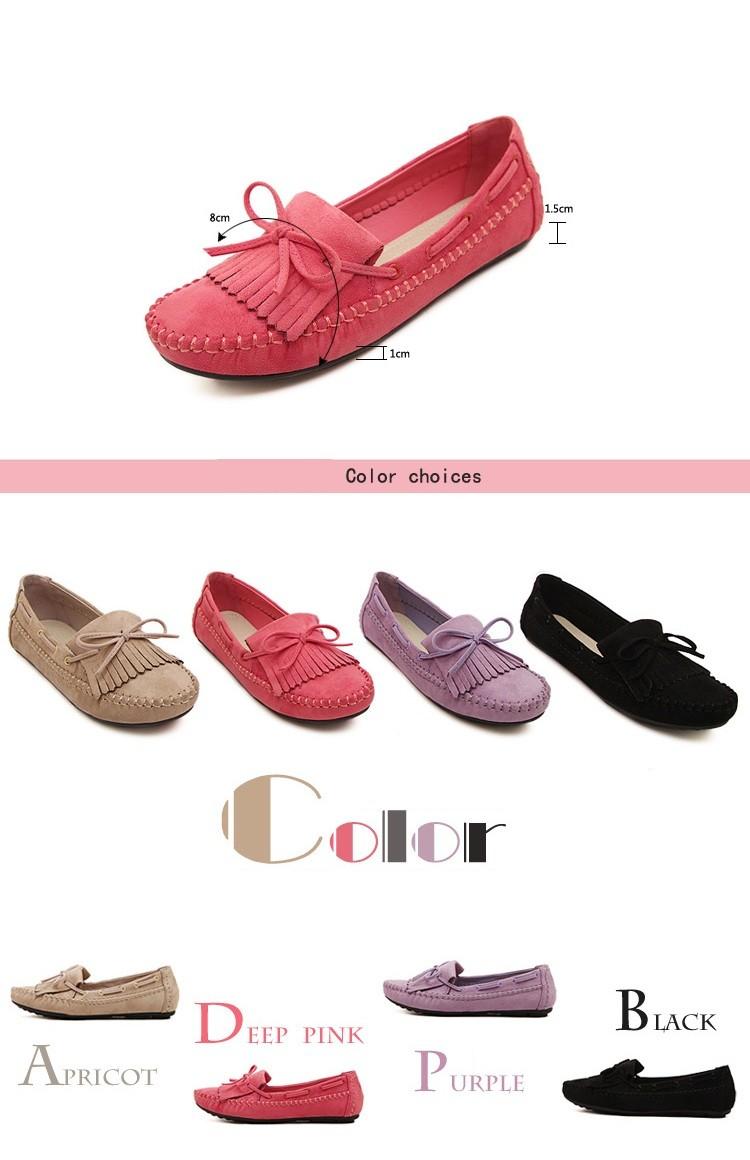 Женские туфли 2016 боути кисточкой квартир женщин стая женская причинная круглый носок мокасины обувь женские туфли Большой размер 35 - 41