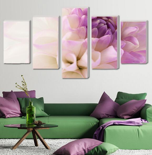 5 Pieces Modern sitting room module picture poster print canvas art orchid home decoration canvas oil painting(China (Mainland))