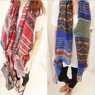 2016 большой размер богема национальная тенденция шарф женский ромб геометрия мода шарф женщины бесплатная доставка