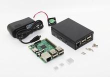Metal Box!! Raspberry Rev 3.0 512 ARM Pi Model B Plus + Black Case 5V fan 2 Heatsinks 2A Power Adapter - BIG TREE TECHNOLOGY CO.,LTD store