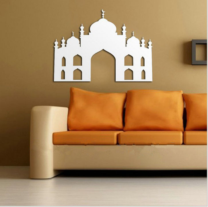 islamic mosque wall sticker muslim islam arab art mural large wall decal vinyl stickers sofa background - Islamic Home Decoration