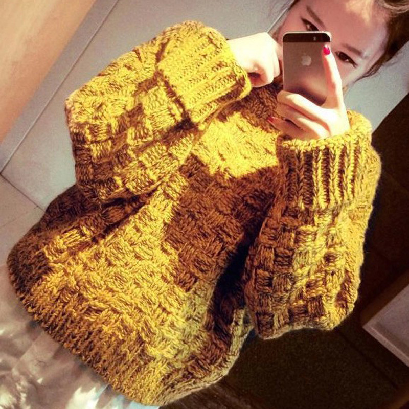 2015 fashion pull femme turtleneck knitted sweater coat female Korean hedging fall winter bottoming women sweaters and pulloversОдежда и ак�е��уары<br><br><br>Aliexpress