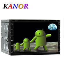 7inch Double 2 Din Car GPS DVD Player Radio Stereo Capacitive Touchscreen Pure Android 4.4 Dual Core 1.6G 3G WIFI OBD2 DVR Map