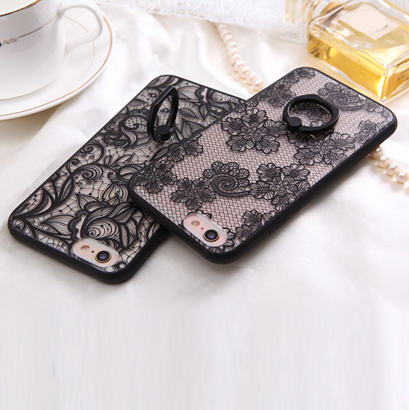 Sexy Lace Stockings Flower Case for iPhone 6 6S Plus 4.7 5.5 Hard Case with Lace Bra Top Case for Apple iPhone Case Cover Shell(China (Mainland))