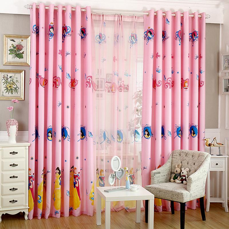 rosa princesa cortinas para nios nias dormitorio cortina de la ventana para nios nursery saln persianas