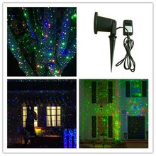 2016 new products IP 65 outdoor Christmas star projector laser light shower Moving Twinkle RGB Light Projector Landscape light(China (Mainland))