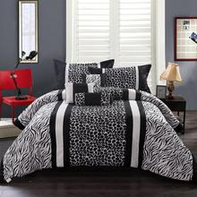 Modern Bedding 7Pc Polyester Short Brushed Comforter Set Fleack Figure King Size Multi-color Bedding Set(China (Mainland))
