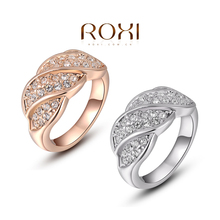 ROXI Exquisite rose golden screw colorful rings plated with AAA zircon,fashion jewelry for women,best Christmas gifts