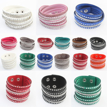 2015 NEW Products Sell Like Hot Cakes Fashion Charm Double Circle Multilayer Leather Bracelets Men&Bracelet women