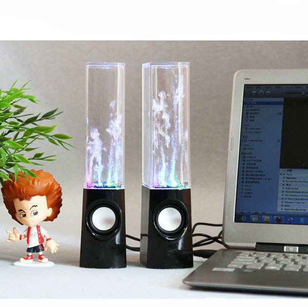 Mini LED Speaker Water Dancing Music Amazing Sound Effect USB Speakers Cell phones Computer etc - Goodone fashion store