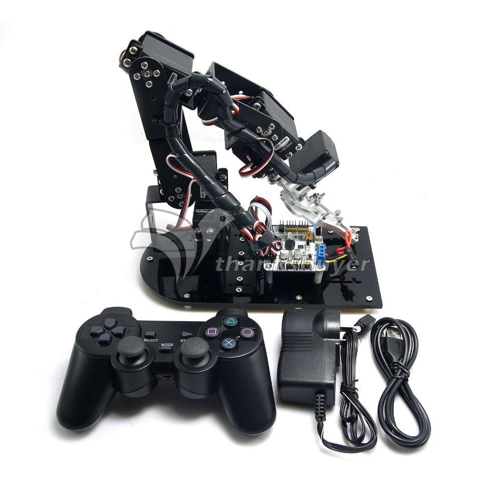 6 DOF Mechanical Robot Arm 3D Rotating Mechanical Arm Robit Kit & 32 CH Controller & MG996R Servos(China (Mainland))
