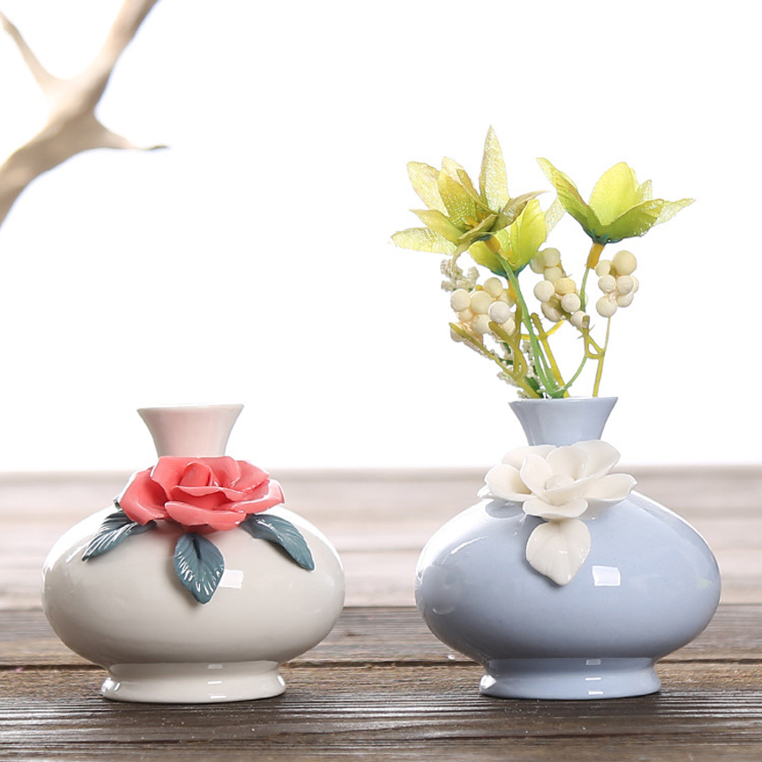 Compra ceramic mini flower vase online al por mayor de china ...