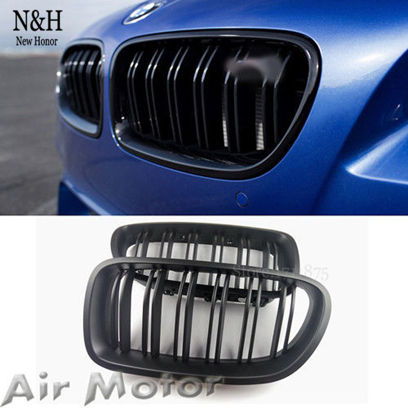 High Quality Front Matte Black Grill Plastic Racing Grilles For BMW F10 5-Series Sedan 528i 530i 550i(China (Mainland))