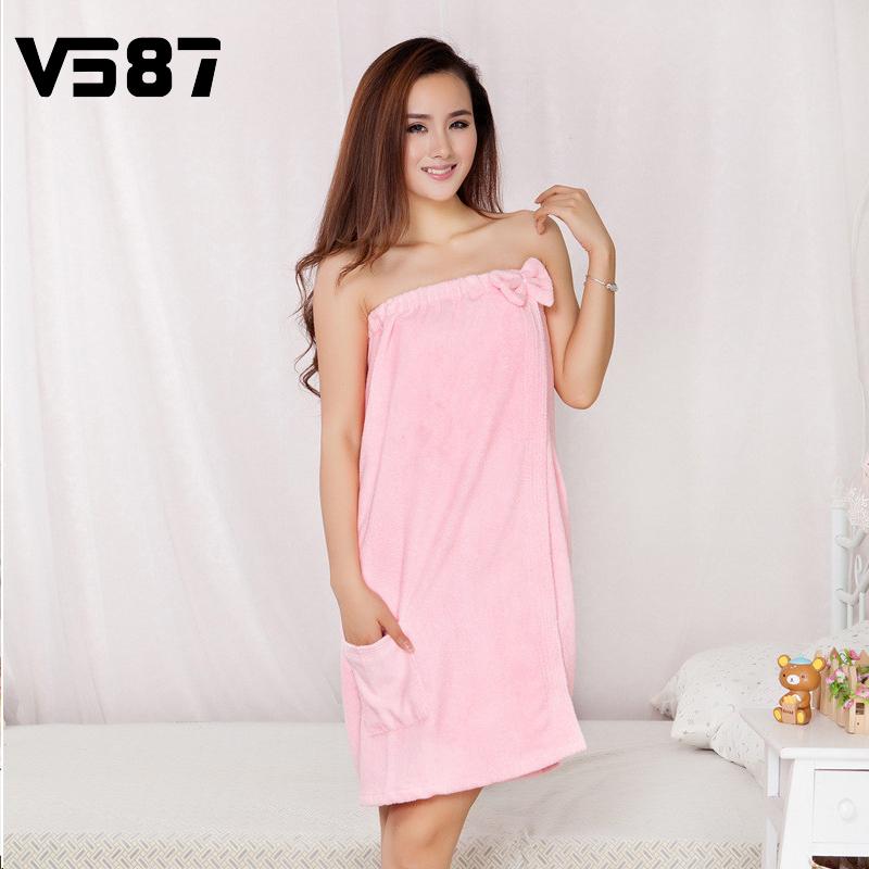 2016 Wearable Bath Towels 120X85cm Bow Decor Microfiber Quick Dry Towel Skirt For Bathroom Spa Body Women Girl Body Wrap(China (Mainland))