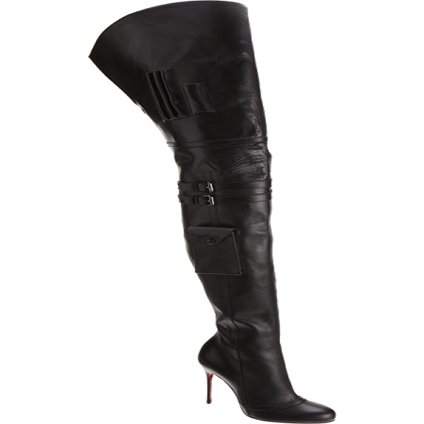 Fashion Women Boots zapatos mujer Over The Knee High Thin High Heels Pointed Toe Autumn Boots Black Leather Sexy Shoes
