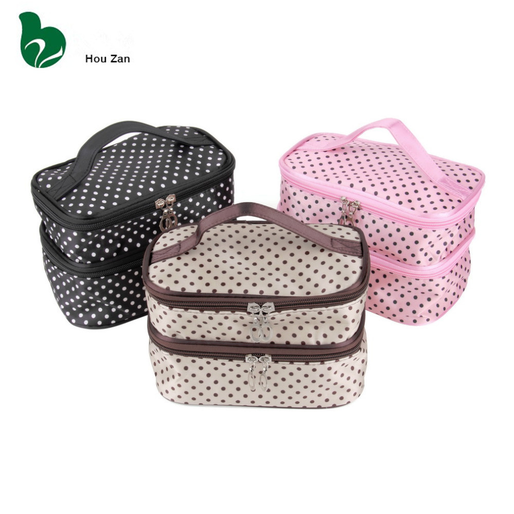 Beautician Vanity Necessarie Neceser Women Toiletry Travel Kit Lingerie Make Up Makeup Case Cosmetic Bag Organizer Storage Pouch(China (Mainland))