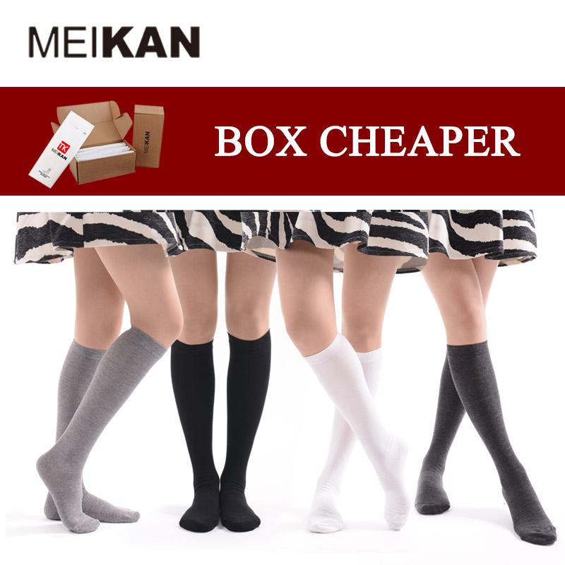 Knee High Socks Women Harajuku Cosplay Cute Students Sox Cotton Long Stocking Sports Calcetines 5 pairs Cheap Tube Socks(China (Mainland))