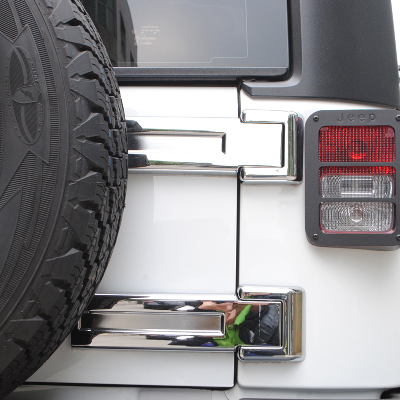Chrome ABS Exterior Accessories Tailgate Door Hinge Covers For Jeep Wrangler JK 2007-2015(China (Mainland))